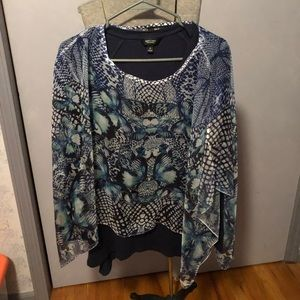 Style & Co silky poncho size M